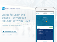Amex Global Business Travel mobile app
