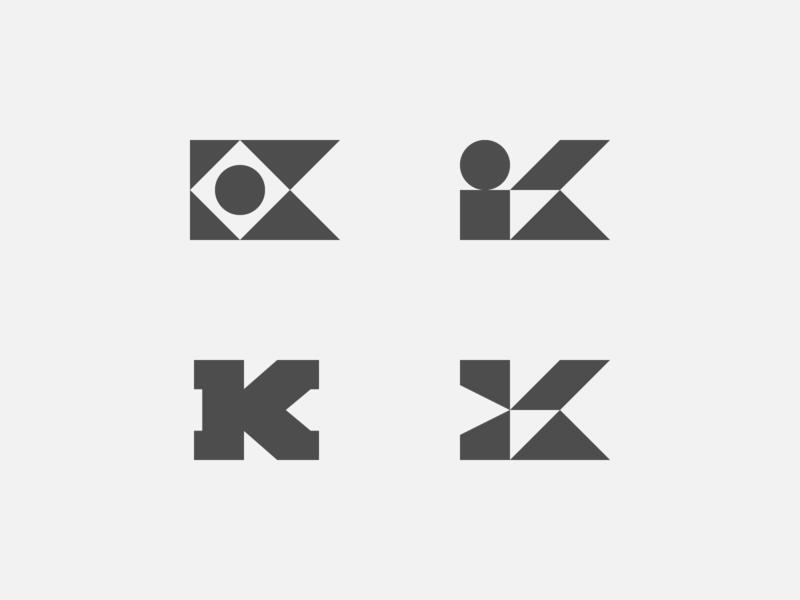 K Explorations logo geometric simple logo k logo