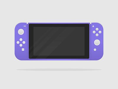 Purple Nintendo Switch illustration purple switch nintendo