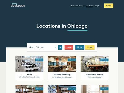 Deskpass Locations web design chicago coworking deskpass