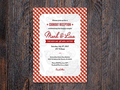 Reception Invitation cookout picnic invitation wedding