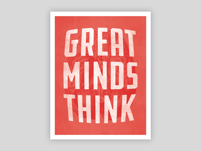 Great Minds Think poster brain science march earth day march for science