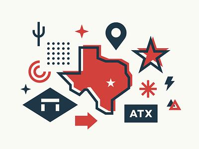 Deskpass Austin texas austin collage deskpass illustration