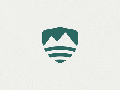 Mountain Logo Exploration shield pnw logo water mountain