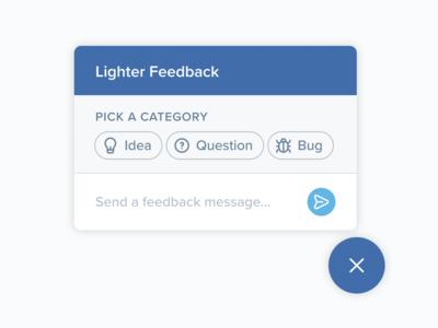 Feedback Widget fintech intercom ux popup feedback message ui