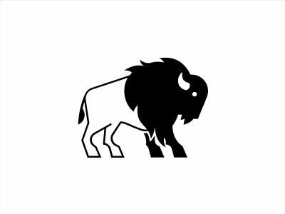 WN_Buffalo bison buffalo mark logotype chicago illustration simplicity minimal branding logo icon