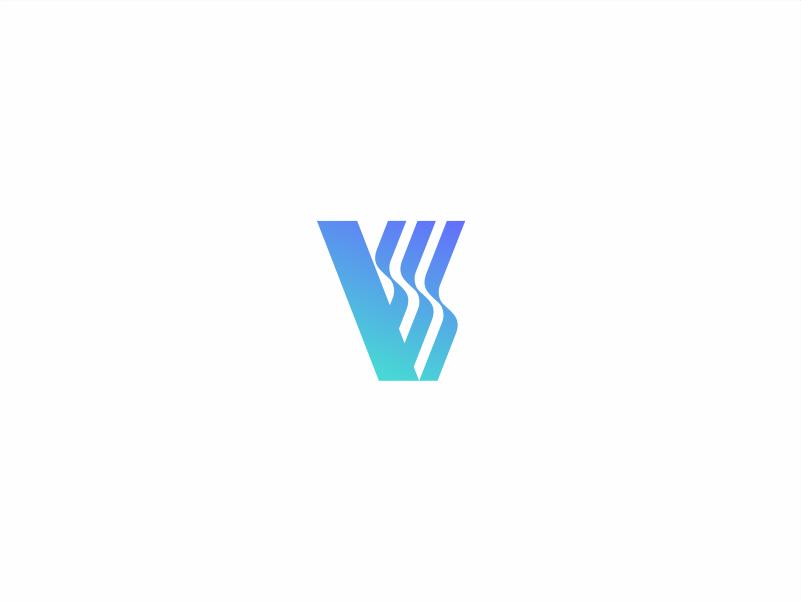 V is for Vapor. design geometric type illustration monogram typography chicago simplicity icon identity branding mark logo