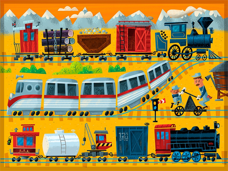 Fee fi fiddly-eye-oh train puzzle