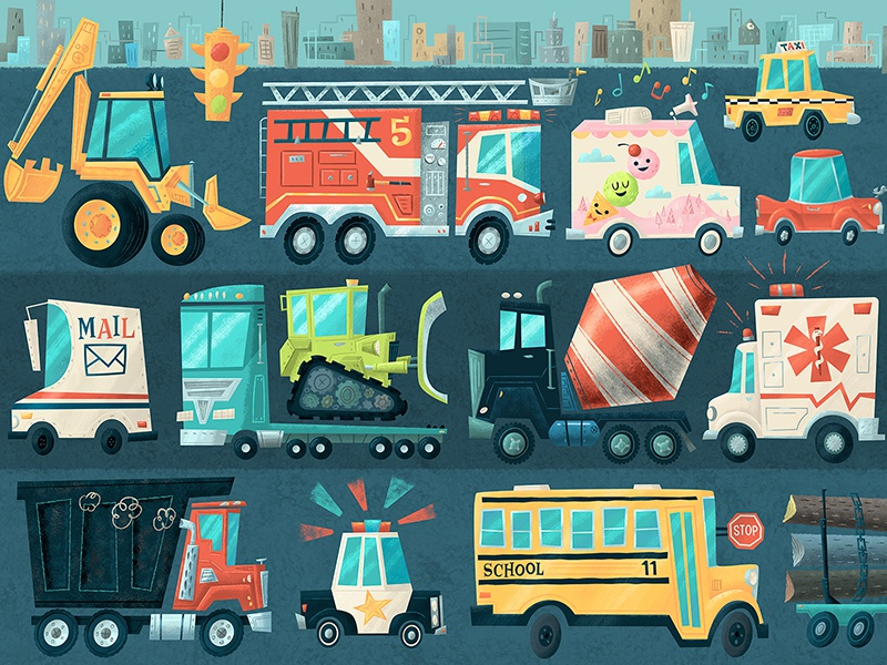 I should've left 20 minutes earlier puzzle cars beep bus logs harry potter dumptruck po-po