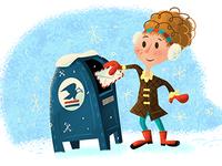 Letter-mailing girl