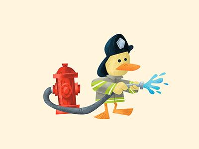 Fire duck quack hydrant no-pants