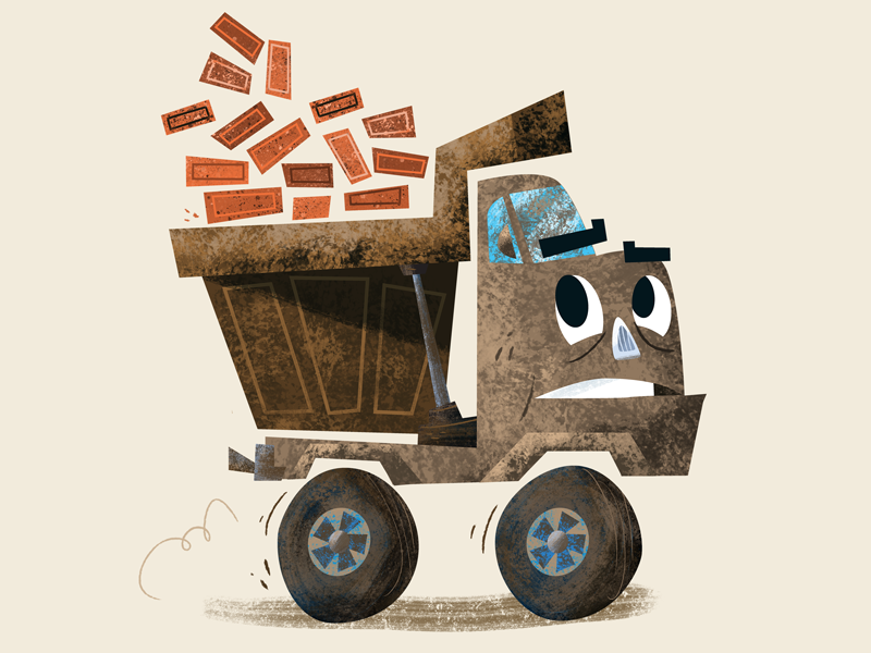 Ton of bricks dirty filthy dumptruck washme