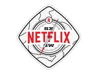 Netflix SXSW Badge - White