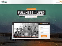 World Vision : Live Life - Simple Splash Page