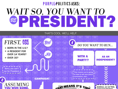"""""""so you want to be pres infographic"""" (c. 2014)"""
