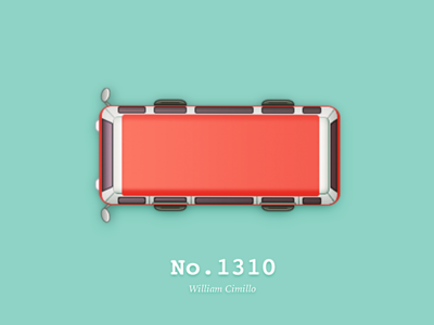 No.1310 from New York City red bus william cimillo