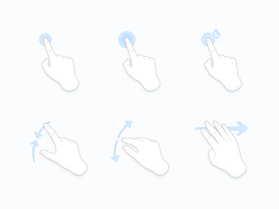 Gestures touch multi-touch finger hands gesture
