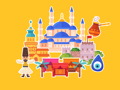 Word Travel Game: Istambul map istambul illustraion vector town world
