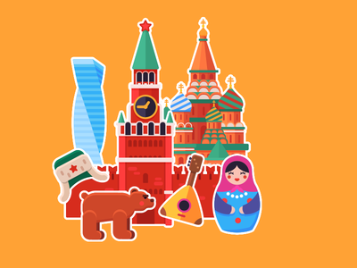 Word Travel Game:Moscow illustraion vector town country world moscow