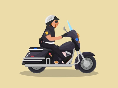 policeman bike policeman game character vector