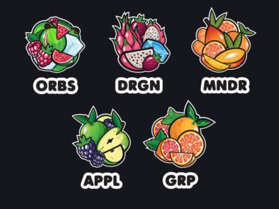 Gorilla Cool Tastes vector label illustration gorilla fruit