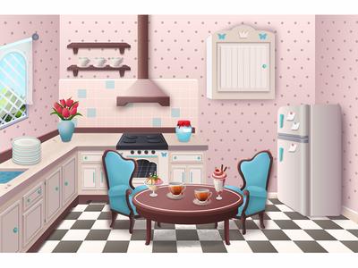 Kitchen interior design game room kitchen