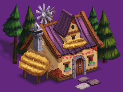 Gypsy House 2 game house objects location forest concept