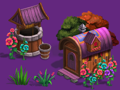 Gypsy House 3 game house objects location forest concept