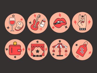 Rock mama icon instagram lips rock fest icon vector mama rock  roll rock
