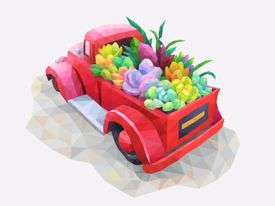 My poly Artbook coloring playgendary illustration car poly lowpoly