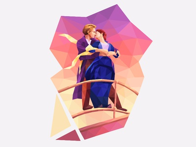 My poly Artbook Titanic playgendary titanic illustraion vector poly lowpoly