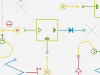 Seamless tech pattern