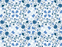 Blue Xmas Patt