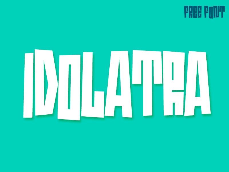 Idolatra font free font typeface tiki typo gratis duttyfree capitals alphabet lettering sans idolatra