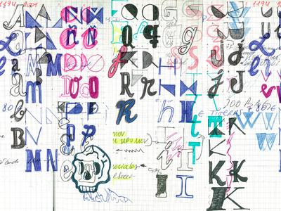 WIP new typo typeface wip alphabet sketch font typo