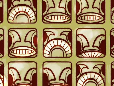Tiki Family tiki pattern idols