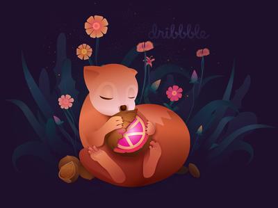 Magic flower illustration animal design illustration