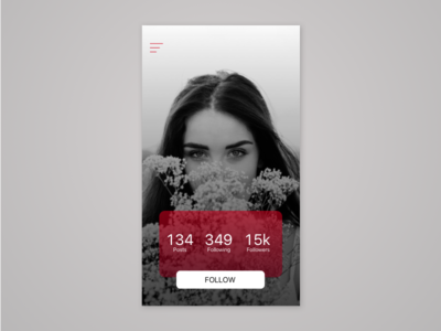 User profile | Day 006 #dailyui