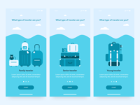 Onboarding for traveling app