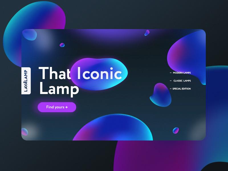 9ba10648 Lava Lamp color illustration ui designer design shop online shop logo  typography bold typography landing page