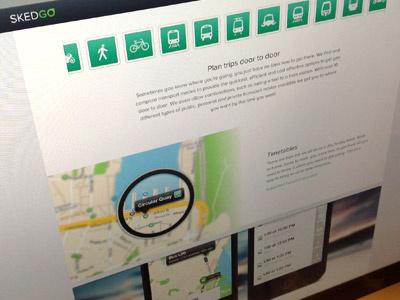 Skedgo.com website skedgo tripgo transport icons iphone map logo landing page
