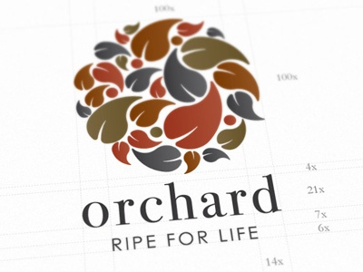 Orchard Supermarket Identity logo grid orchard mad layout