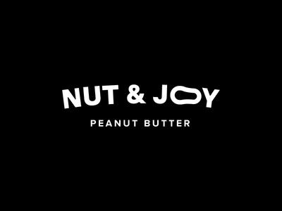 Nut & Joy white butter peanut monochrome logo letters joy nut black
