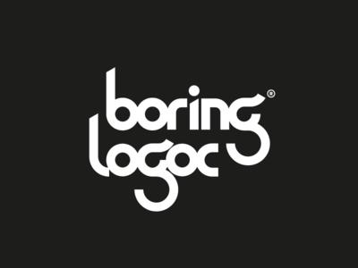 Boring Logos Pack typography branding illustration white black monochrome design behance lettering sign logofolio logo