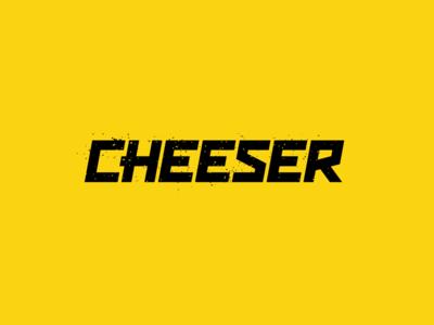 Cheeser concept snacks snack cheese design black lettering logo