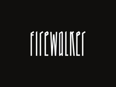 Firewalker usa web typography branding monochrome white black lettering logo