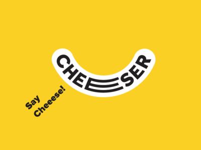 Cheeser smile design logo lettering concept snacks cheese