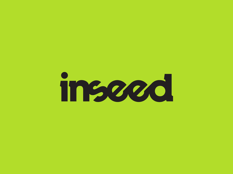 Inseed seed agency marketing typography branding design monochrome lettering logo