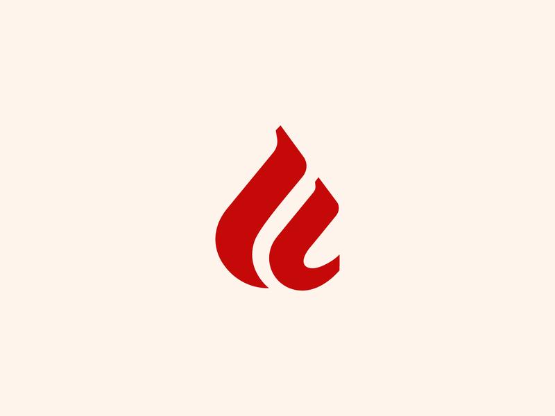 Firewalker sign design branding web letters fire sign logo