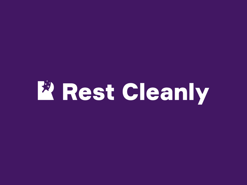 Rest Cleanly window service clean australia cleaning company branding design monochrome logo